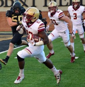 Running back Myles Willis scored BC's first touchdown.